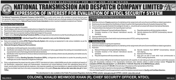 NTDCL Security System Jobs 2015 Application Form NTS Test Dates Eligibility Candidates Lists