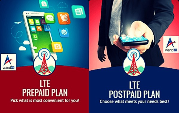 Warid 4g LTE Packages Rates Prepaid and Postpaid in Pakistan