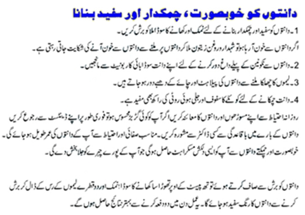 Care Your Teeth Whitening Tips in Urdu/English