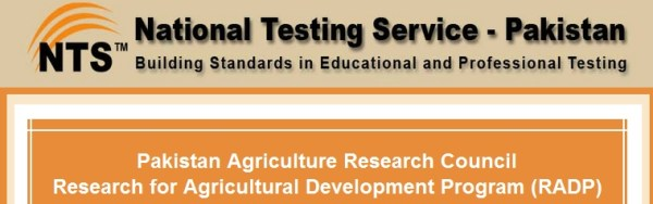 Pakistan Agriculture Research Council Research RADP NTS Test Result 2015 Answer Key Roll Number Slips Download