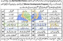 Pakistan Women Development Program Department Jobs 2021