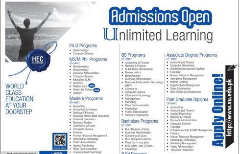 Bachelors and Masters Admission 2018 in VU Virtual University Dates and Schedule