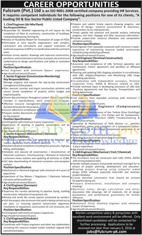 Fulcrum Pvt Limited Pakistan Jobs December 2015 Dates Eligibility Criteria Application Form