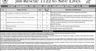 Punjab Rescue 1122 Jobs 2021 Test Registration Form Lists of Candidates