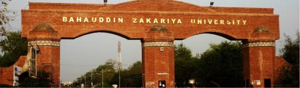 Bahauddin Zakariya University BZU Admission 2018 Distance Learning Programs Apply Online