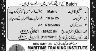 Join Pak Navy 2021 As A Merchant Seaman Jobs Training Course Batch 34 Registration Online Eligibility Criteria Last Dates