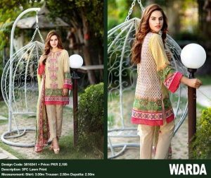 Warda Lawn Pakistani Branded Ladies Dresses Collection Suite Kurti Salwar Kameez New Style Lawn Expensive Dresses Collection 2016