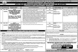 PPSC Livestock and Dairy Development Department Punjab Veterinary Officer Jobs in 2016 Online Registration Eligibility Criteria