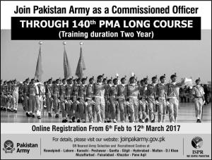 Join Pak Army Jobs 2017 Through Long Course 140 Qualification Physical and Written Initial Test Selection Procedure