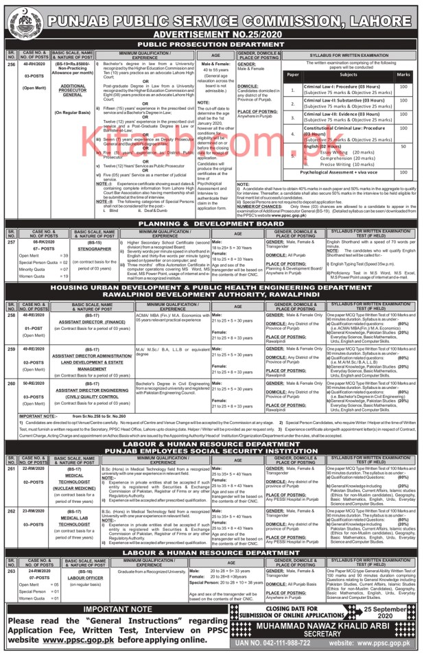 PPSC Public Prosecution Department Jobs 2020 Online Apply Eligibility Criteria Dates and Schedule