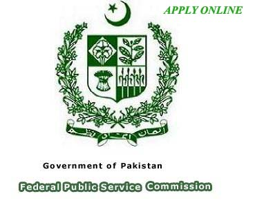 Latest FPSC Jobs in Pakistan Federal Public Service Commission Apply Online