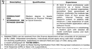 University Of Health Sciences UHS Lahore Jobs 2021 Download Application Form