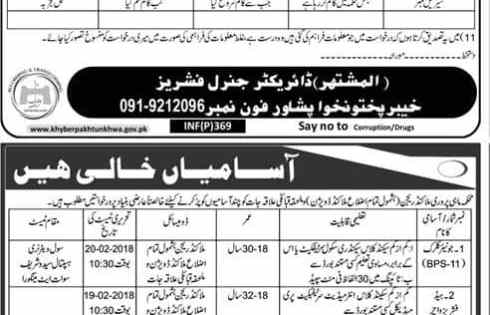 Fisheries Department KPK Peshawar Jobs 2018 Application Form Eligibility Criteria