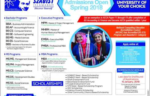 Shaheed Zulfiqar Ali Bhutto Medical University Admission 2018 Entry Written Test Dates and Result