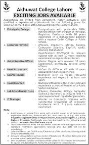 Akhuwat College Lahore Admission 2019