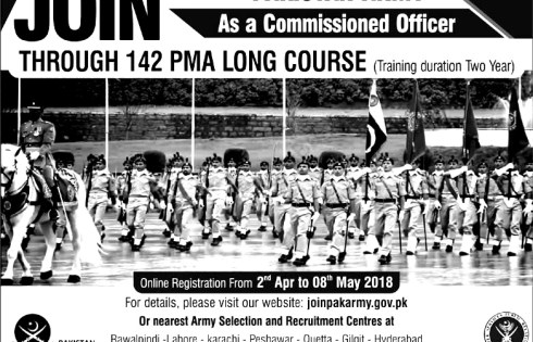 Pakistan Army jobs 2018 Details Online application submission procedure