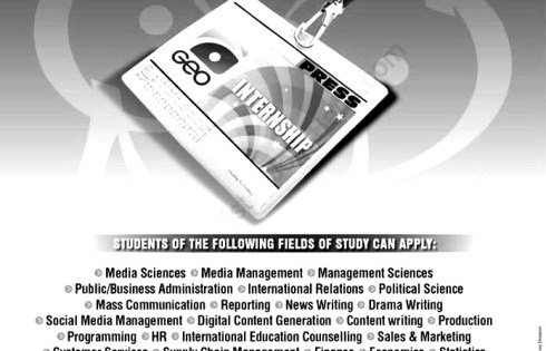 GEO TV Summer Internship Program Media Islamabad 2018 Jobs Information