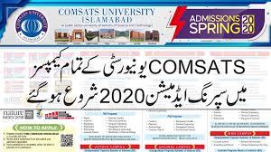 COMSATS University Islamabad/Abotabad Entry Test Admission 2020