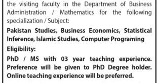 Air University Islamabad Jobs 2021 Online Apply Terms and Conditions Eligibility Criteria