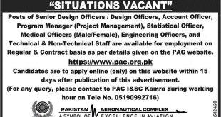 Pakistan Aeronautical Complex PAC Kamra Jobs 2021 Requirements & Procedure Registration Form Eligibility Criteria