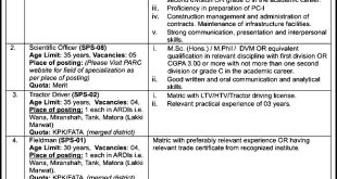 Pakistan Agricultural Research Council Jobs 2021 Application Form Last Date