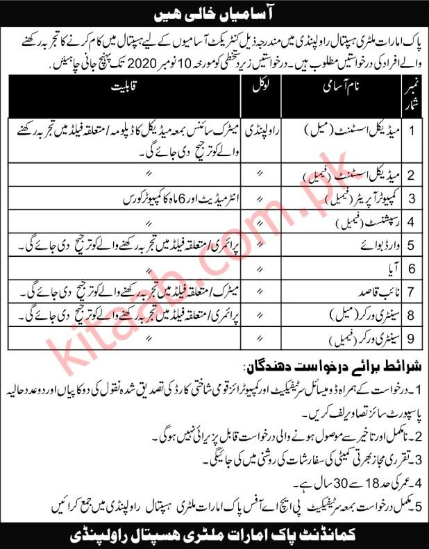Pak Emirates Military Hospital PEMH Rawalpindi Jobs 2020 Application Form Eligibility Criteria