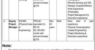 National Institute of Oceanography Karachi Jobs 2021 Application Form Eligibility Criteria