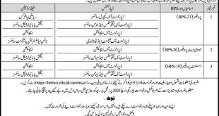 Begum Nusrat Bhutto Women University Jobs 2021 Application Form Download Eligibility Criteria