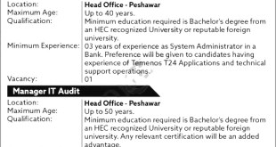 Bank of Khyber Jobs 2021 Apply Online Location Last Date Qualification Experience