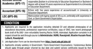 National University of Modern Languages NUML Islamabad Jobs 2021 Eligibility Criteria Application Form