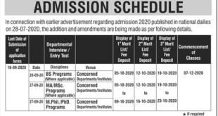 AJK University Azad Jammu Kashmir Admission 2021 MA MSc Online Registration Procedure