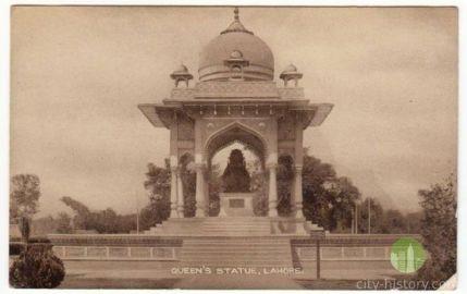 Queen Victoria statue in full grandeur in Charing Cross Lahore