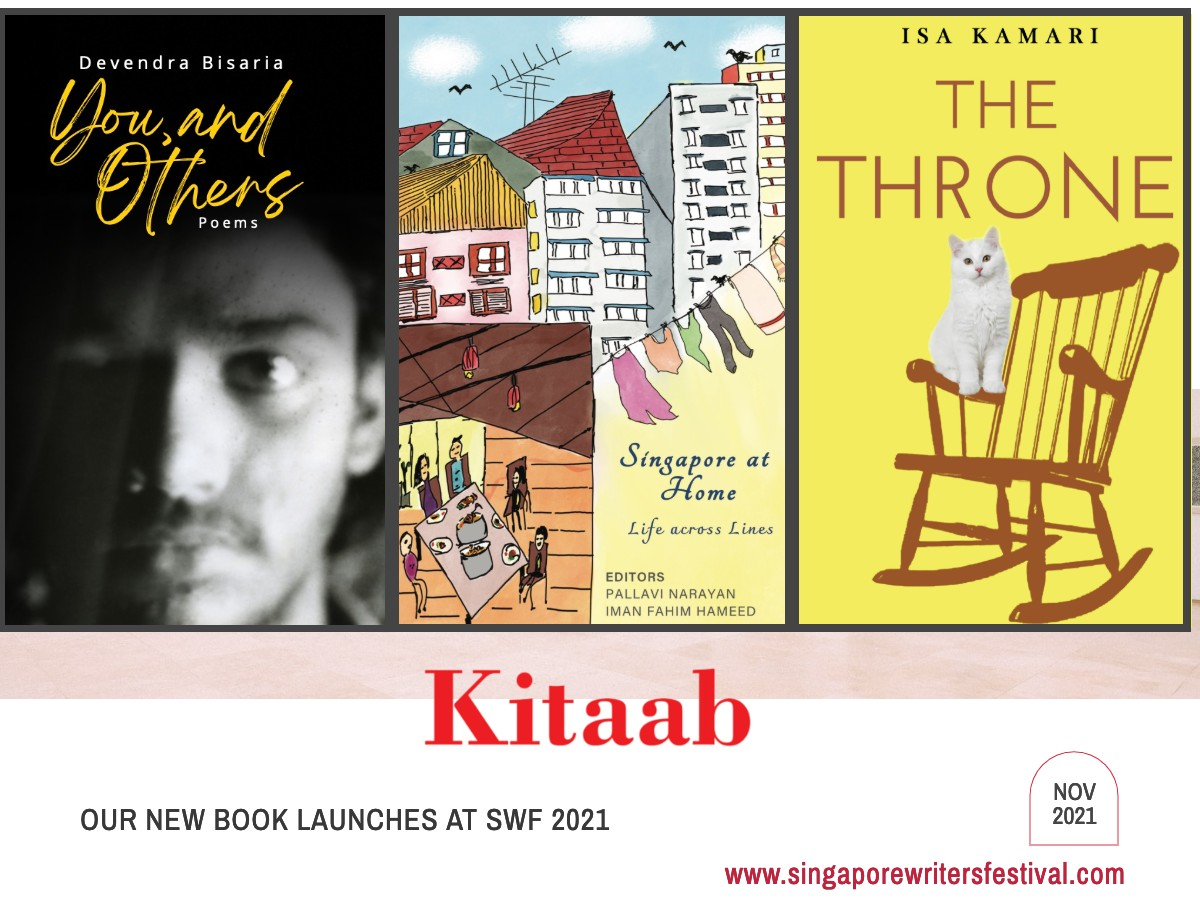 Kitaab to launch 3 titles at Singapore Writers Festival 2021