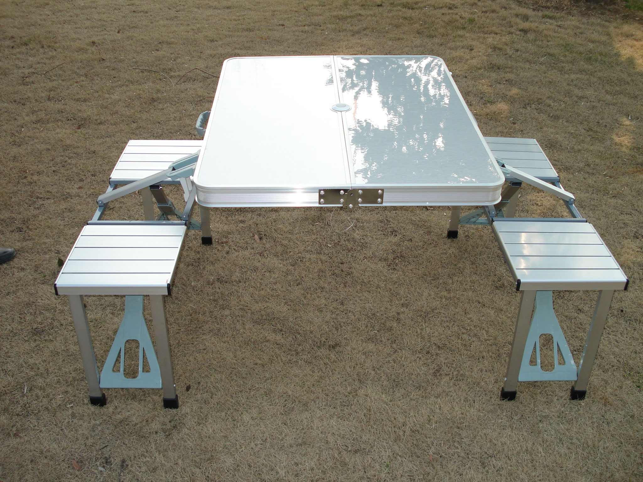 folding table and chairs set camping swivel chair dinette sets tables portable