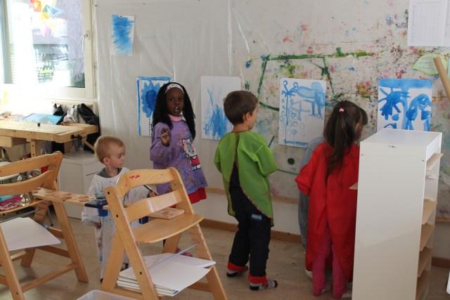 Das offene Atelier in der Kita Kiriku Luzern