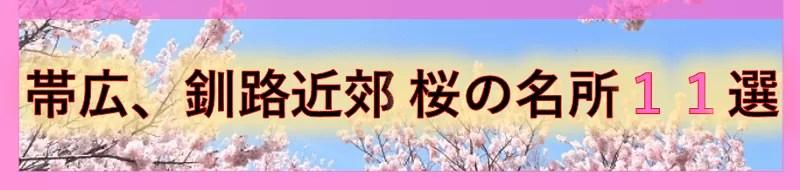帯広、釧路近郊 桜の名所11選
