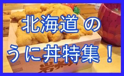 北海道のウニ丼特集