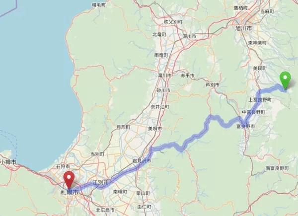 札幌からのルート