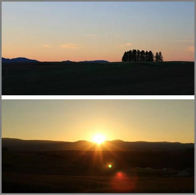 新栄の丘 夕日