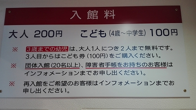 東武博物館 入館料