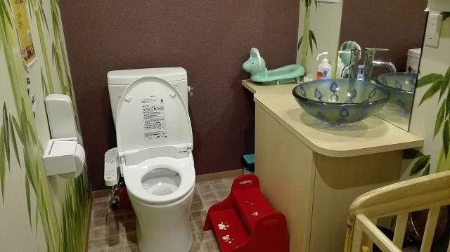ぱんだカフェ 浅草 子連れレストラン トイレ