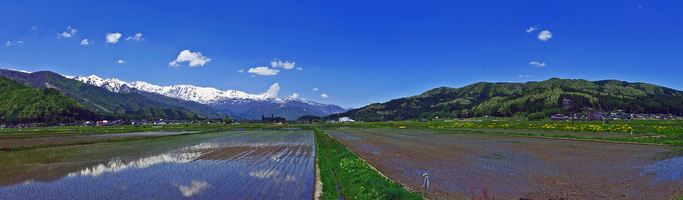 白馬 春 | 北信州 眺望と山の名前