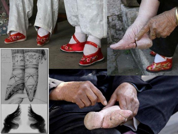 Китайка делает ногами джоб #13