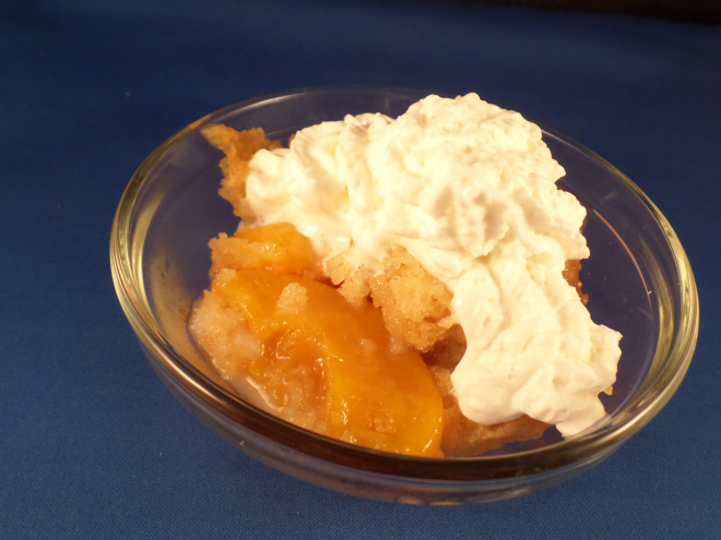 3 ingredient peach cobbler crock pot recipe