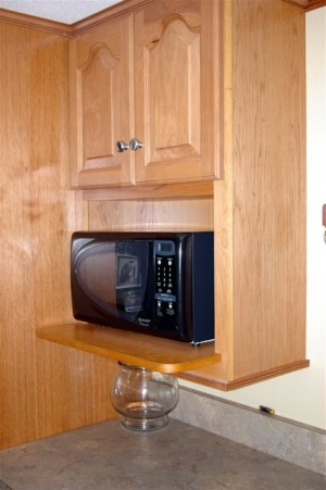 kitchen microwave cabinet 2 tier island enjoy the convenience of a you can save valuable countertop space and keep your design looking elegant sleek by installing