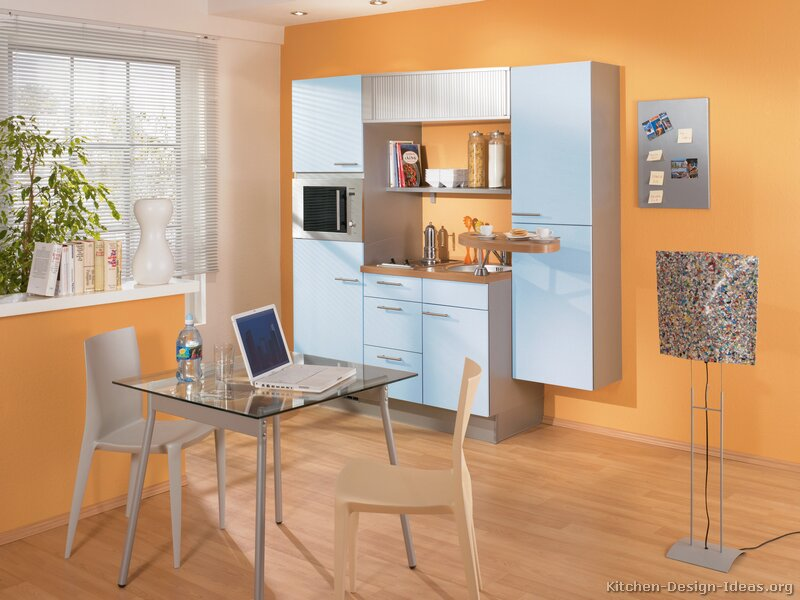 Modern Blue Kitchen Cabinets