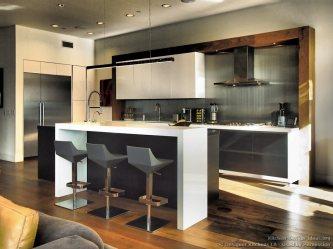 backsplash kitchen bar modern kitchens stools steel stainless designer contemporary designs cabinets wood rustic dark island floors counter oak interior