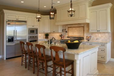 antique kitchen kitchens cabinets traditional wood cabinet designs island cream granite countertops cupboards colors counter luxury countertop sink antiqued farm