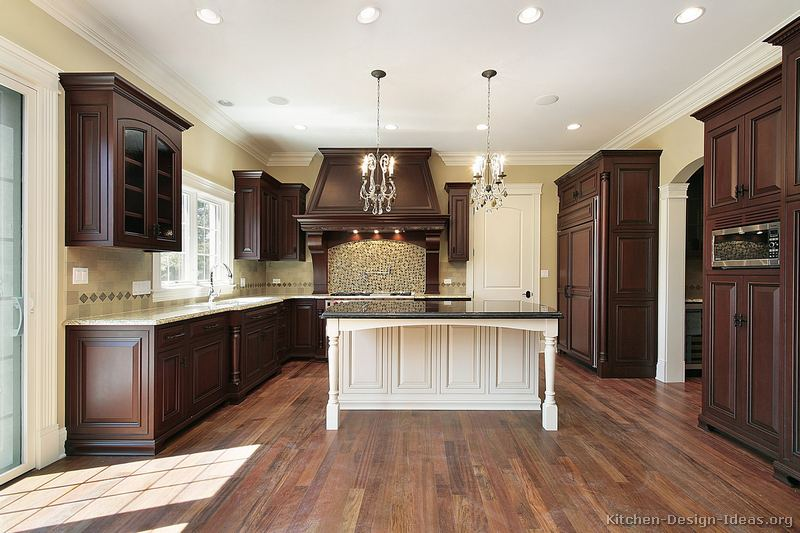 Slate Laminate Countertop Pictures Of Kitchens - Traditional - Two-tone Kitchen