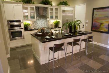 kitchen designs cabinets transitional island traditional kitchens tile floor backsplash cabinet countertops islands grey gray countertop dark counter modern contemporary